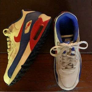 Air Max 90 LTR GS 'White Blue Red' Youth 4.5